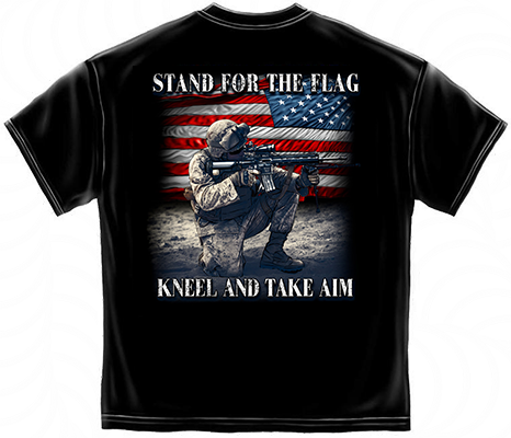 STAND FOR FLAG KNEEL